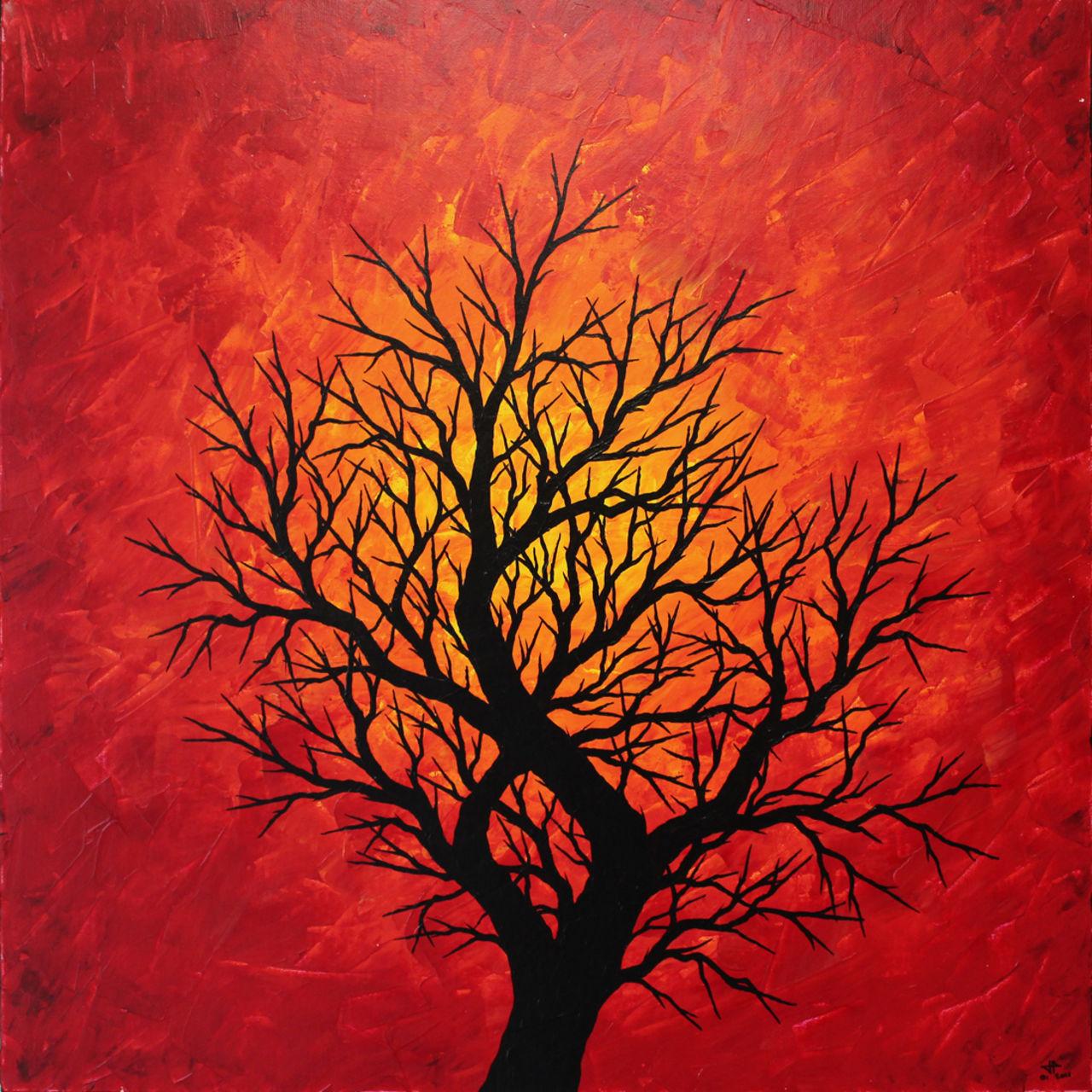 Jonathan-Pradillon Silhouette d'arbre chaleureux