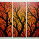 Jonathan-Pradillon - Triptyque silhouettes branchages