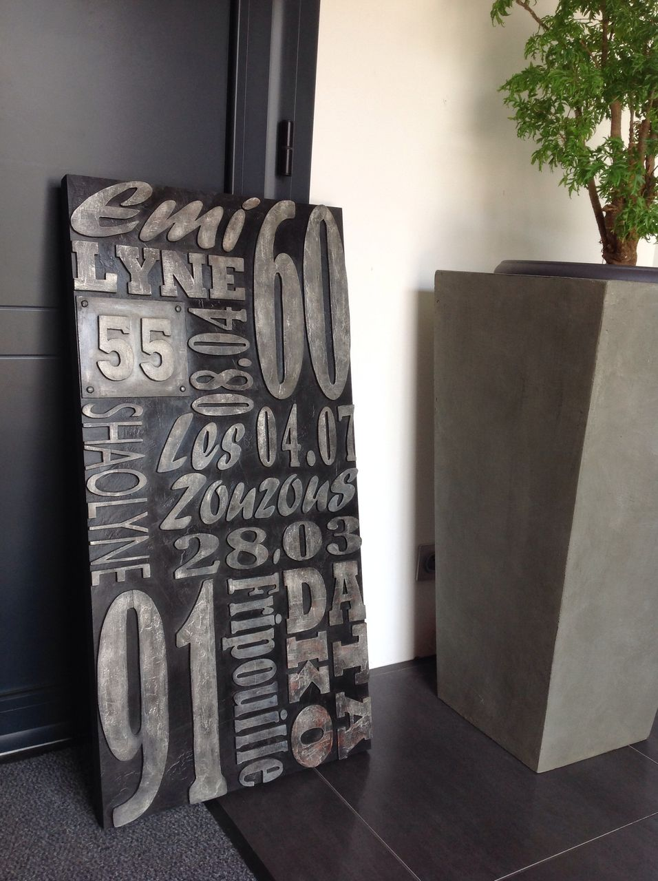 Style Industriel Lettres Bois Type Lettres Imprimerie Tableau A