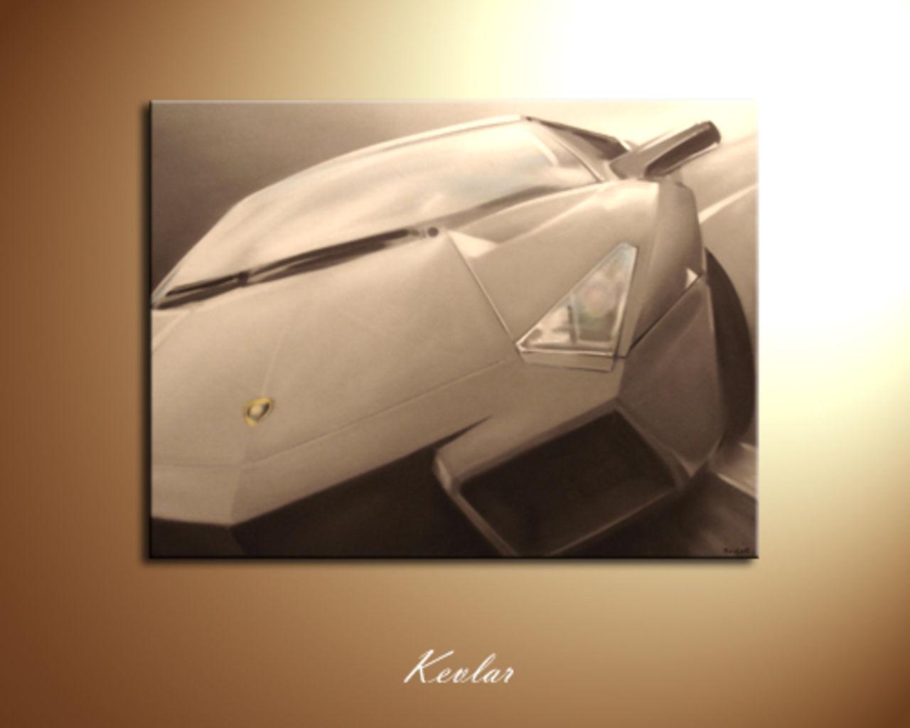 Kevlar Kevgraph Toile Lamborghini Reventon graffiti Kevlar