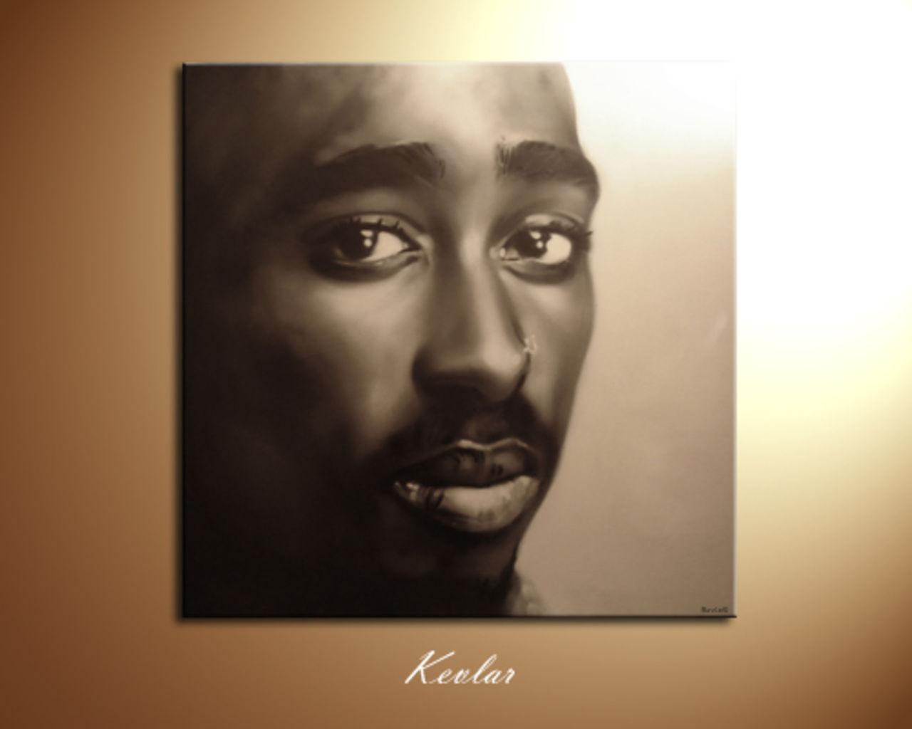 Kevlar Kevgraph Toile Tupac graffiti par Kevlar