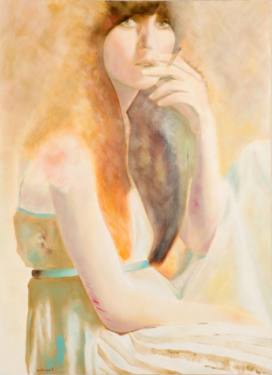 krzis-lorent frederique jeune fille à la cigarette