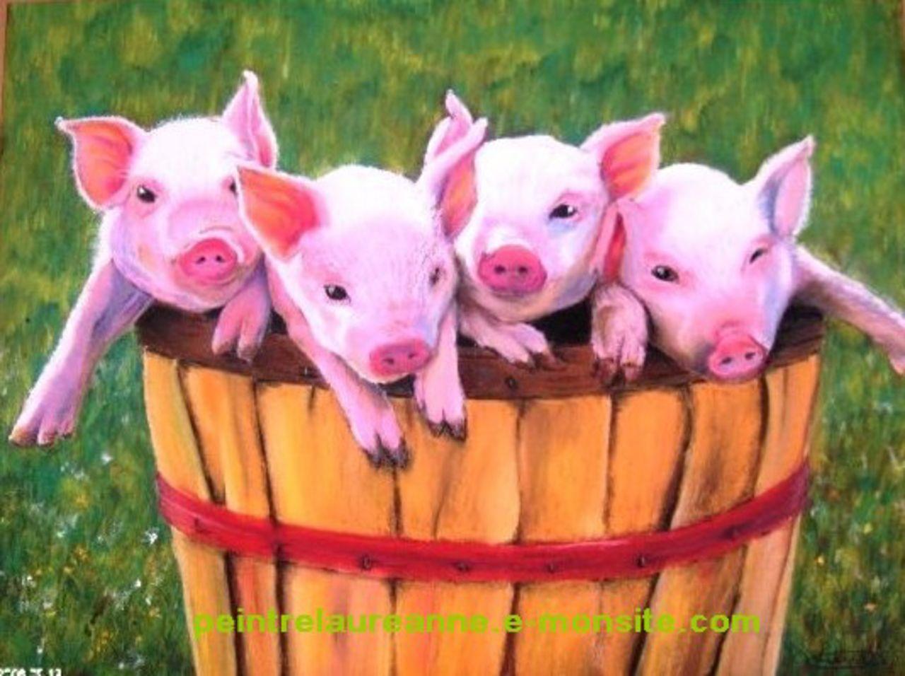 laure-anne barbier Les 4 petits cochons