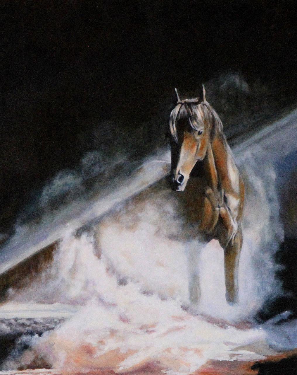 LEPERCQ Veronique cheval dans la brume