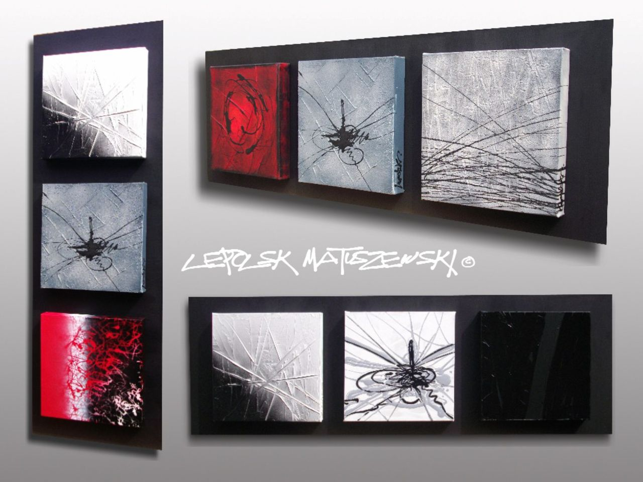 LEPOLSK MATUSZEWSKI Abstrait petis formats Lepolsk Matuszewski expressionnisme abstrait, artiste peintre plasticien