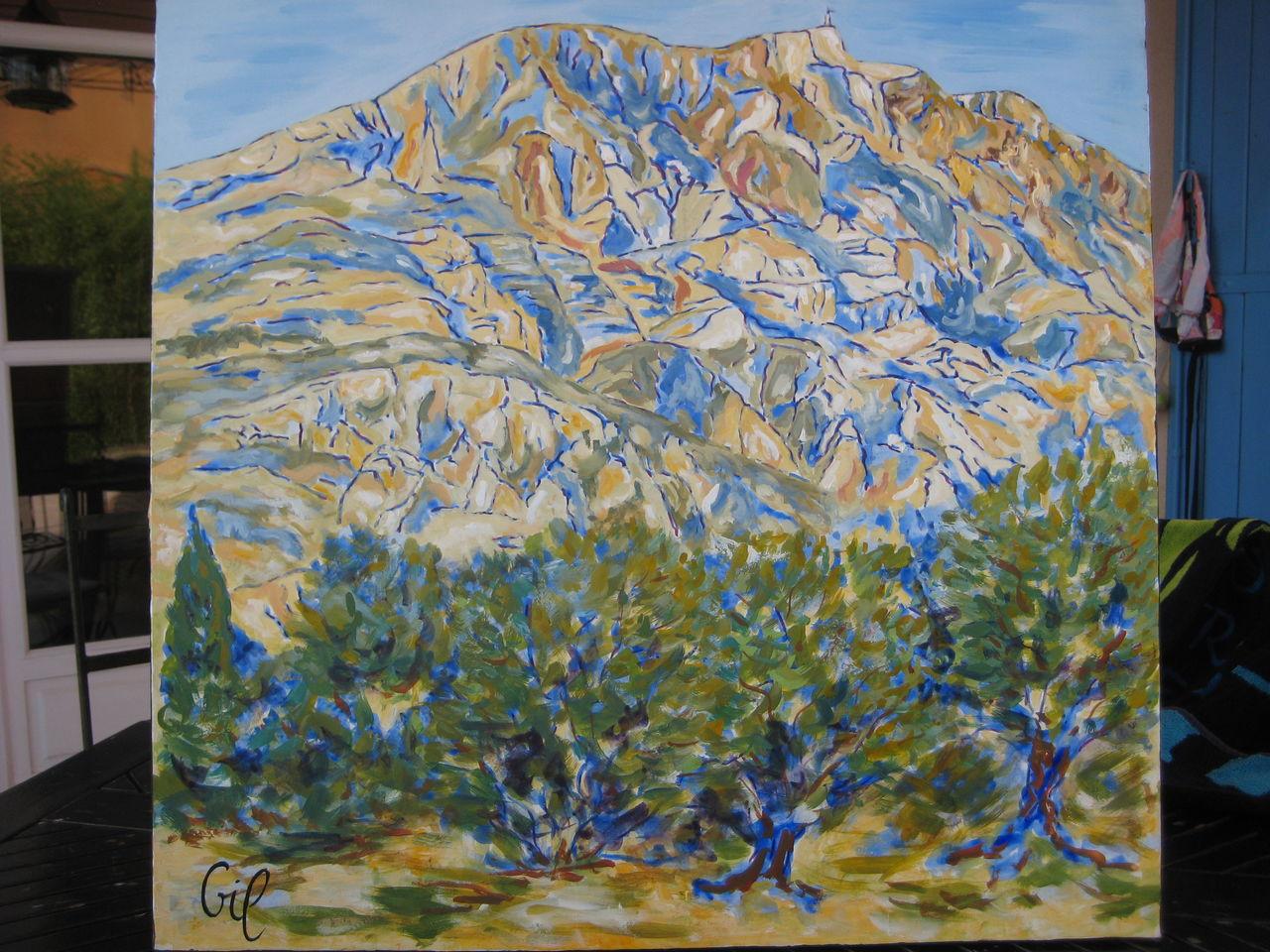 lGil au pays de cezanne - les oliviers