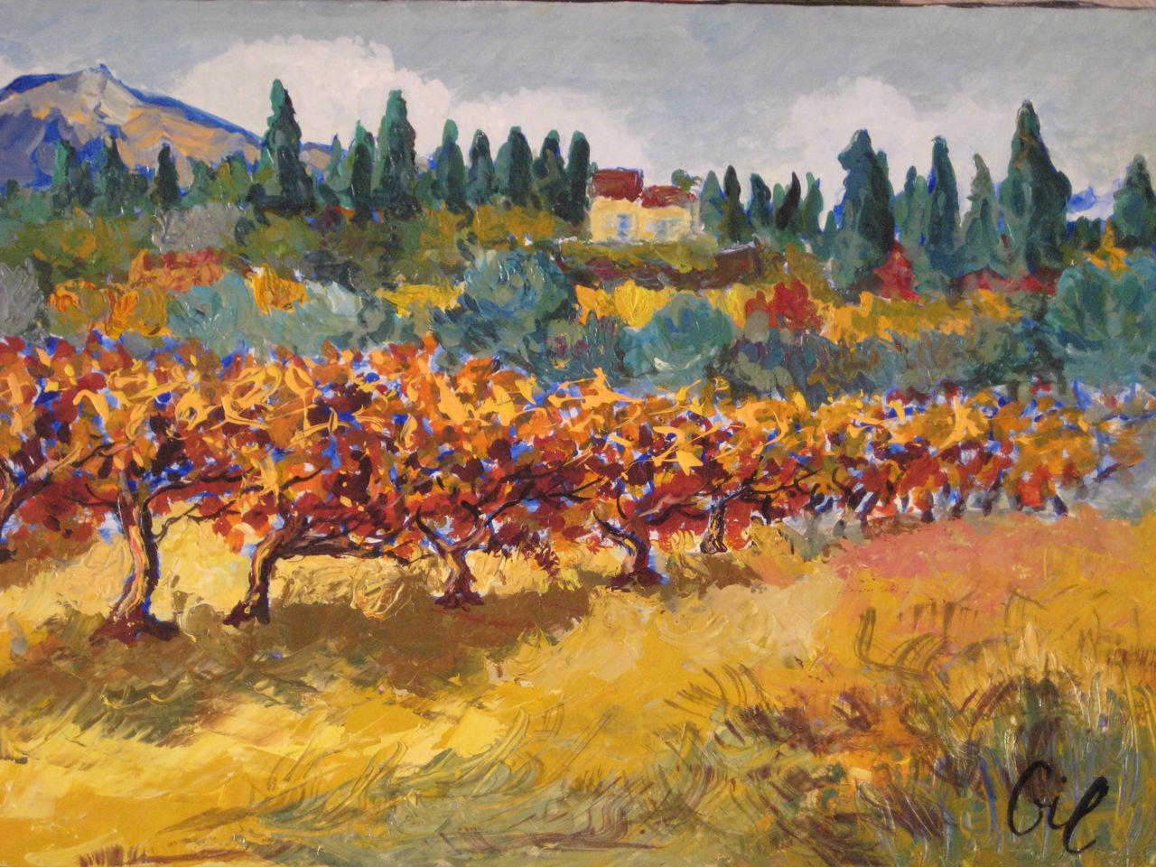 lGil les vignes  soir d'automne