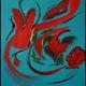 MA PEINTURE SUR TOILE - secrets de l'île aux oiseaux | Peinture abstraite | MA PEINTURE SUR TOILE