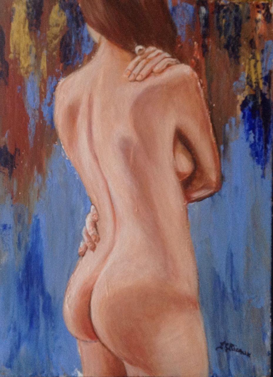 Marie Claire  Ricaux dos nue
