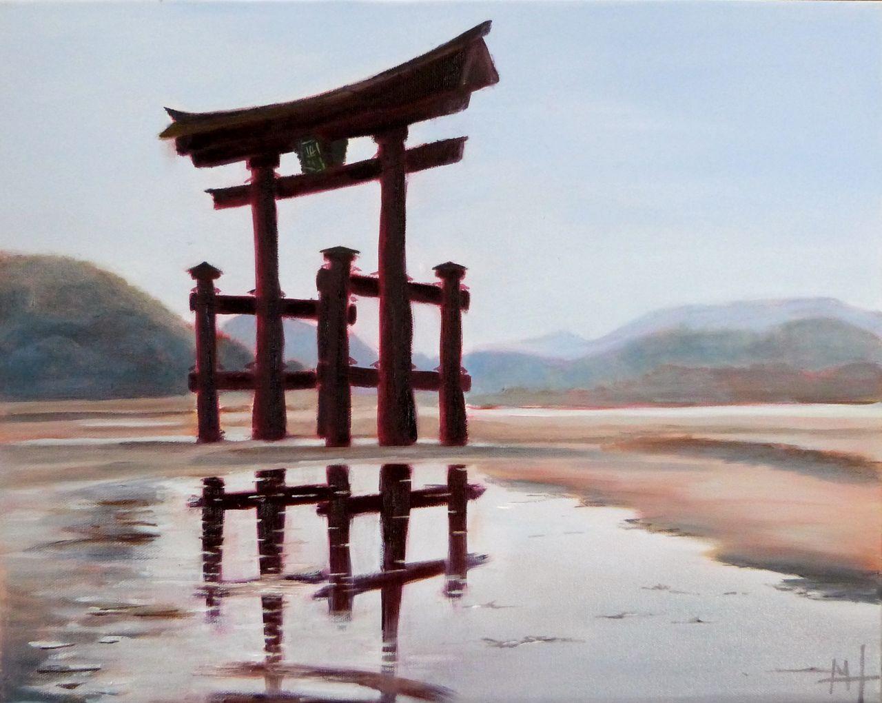 Marie-Hélène CLINCHAMPS le grand Torii de Miyajima