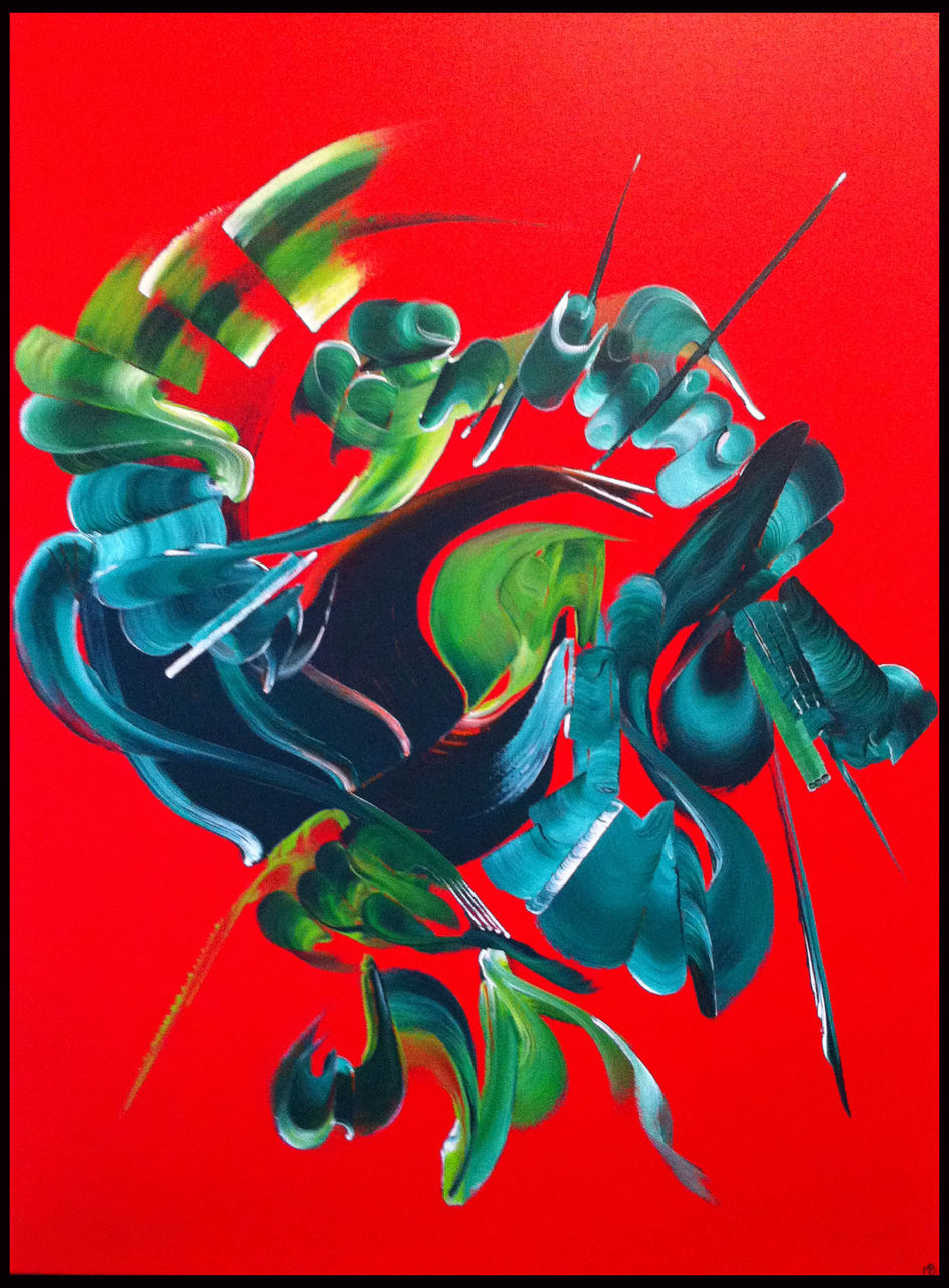 Martine BELFODIL Artiste Peintre professionnelle Volcan du coeur