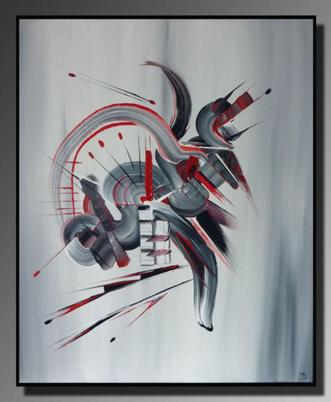 Martine BELFODIL Artiste Peintre professionnelle Peinture abstraite Démons de minuit