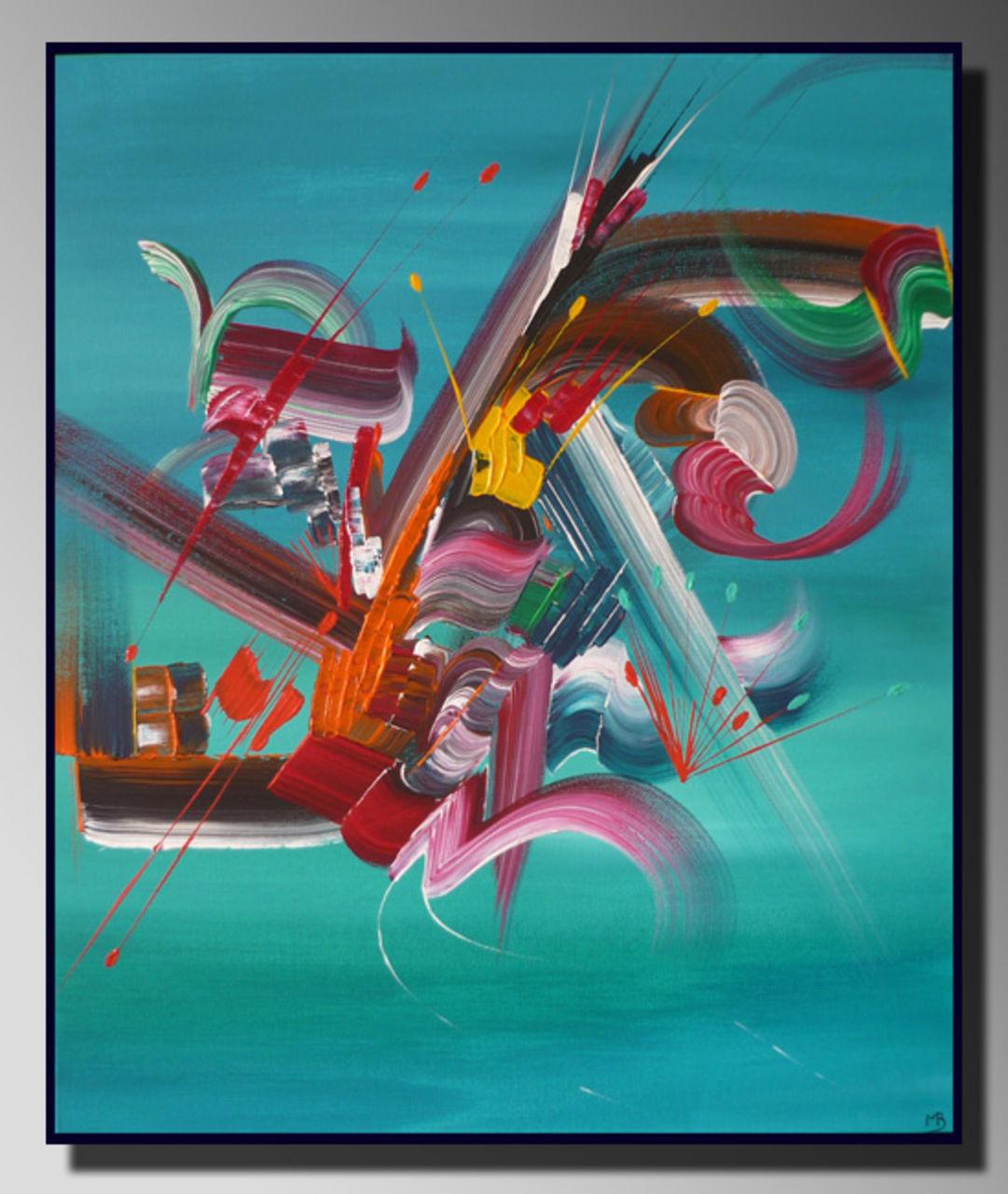 Martine BELFODIL Artiste Peintre professionnelle Peinture abstraite Fusion