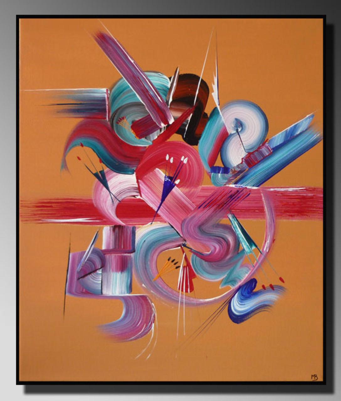 Martine BELFODIL Artiste Peintre professionnelle Peinture abstraite Harmonie
