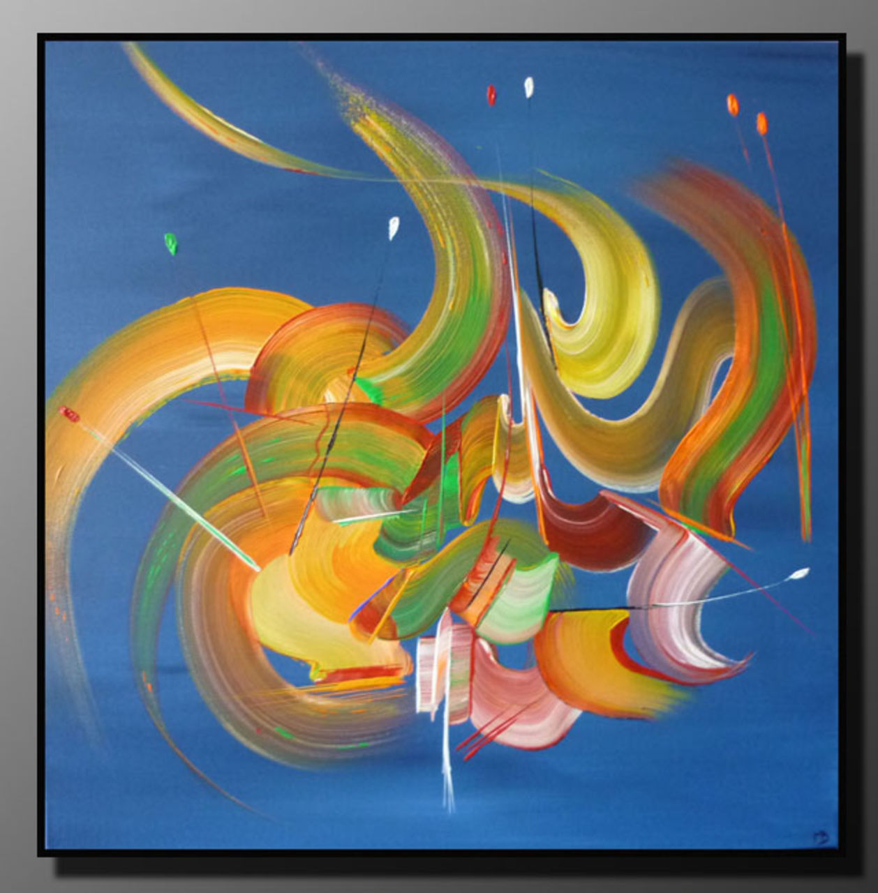 Martine BELFODIL Artiste Peintre professionnelle Peinture abstraite Les rubans