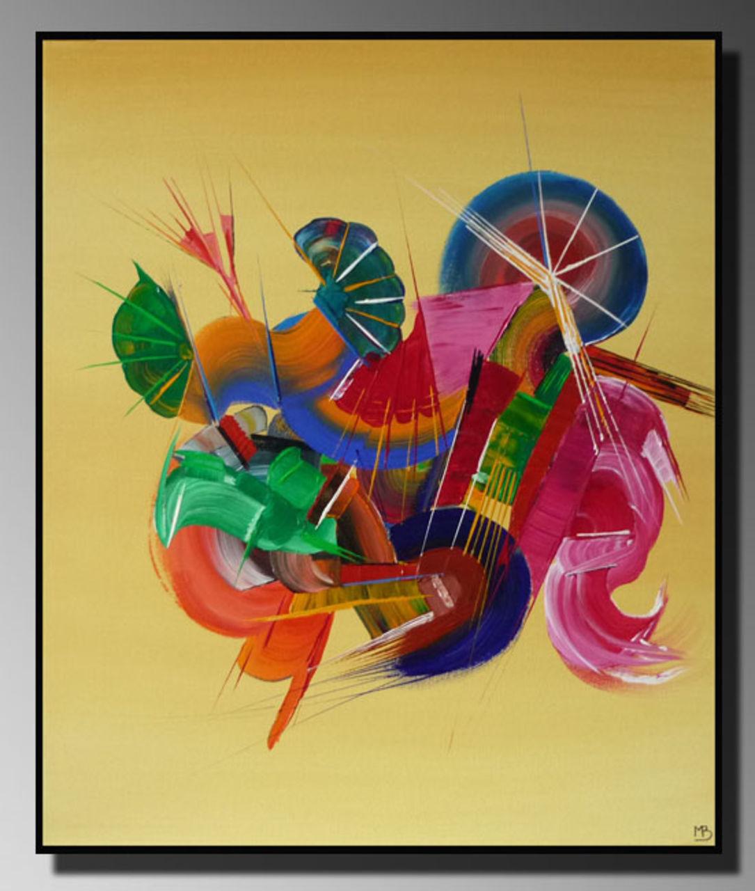 Peinture abstraite Musique (Martine BELFODIL Artiste Peintre professionnelle)