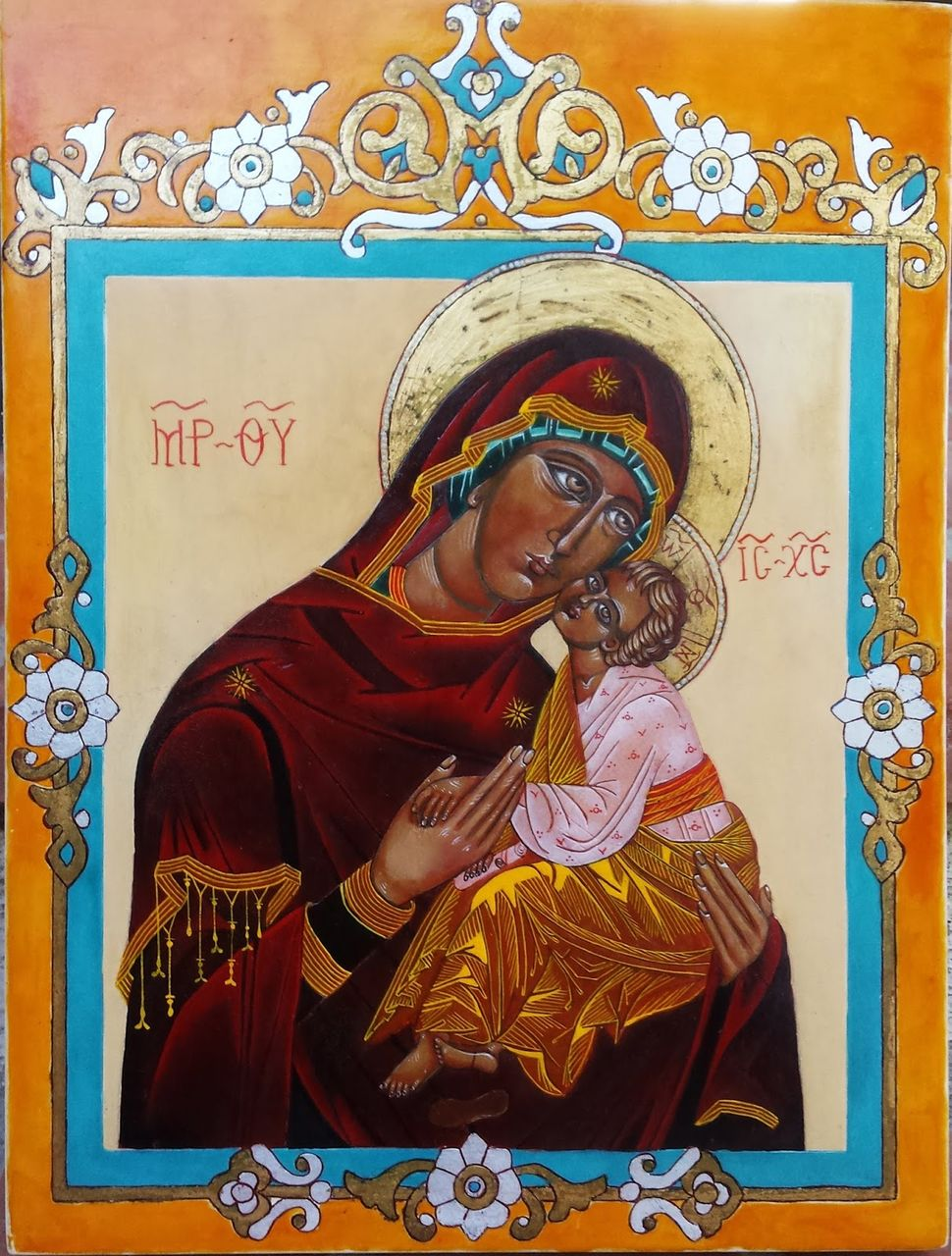 MENA Icône de la Vierge de tendresse.