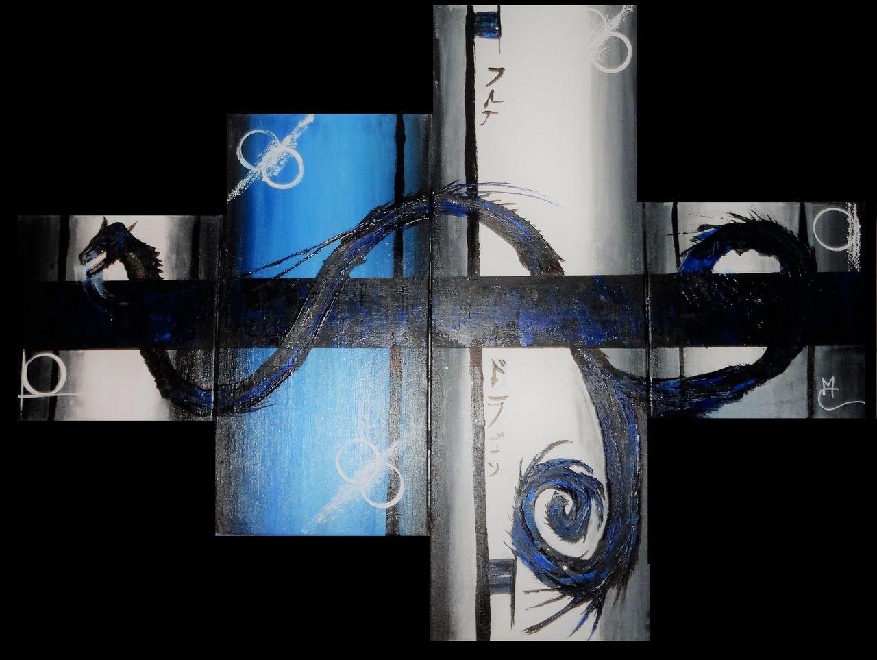 Michaël Cou dragon bleu