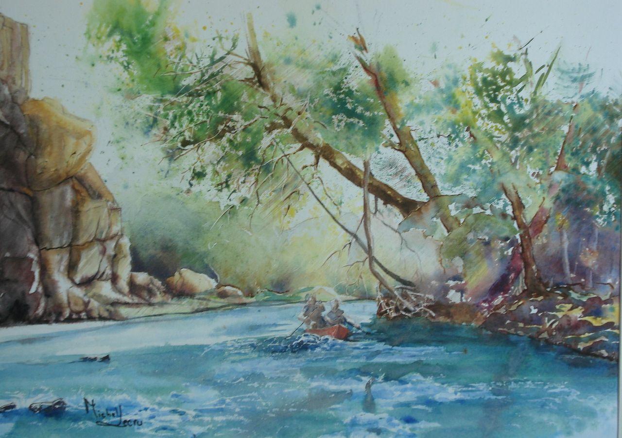 michel lecru Rivière en Ardéche