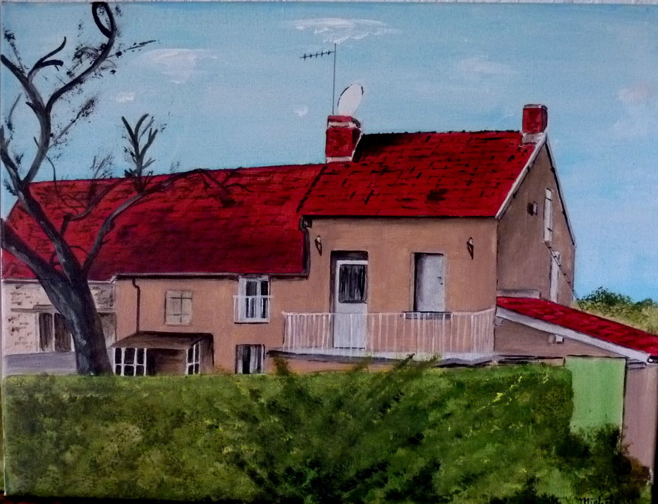 Michele martin maison  d'apres photo.