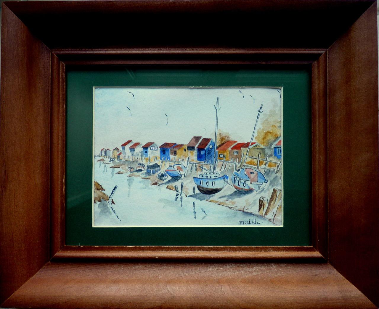 Michele martin Des bateaux sur le sable.