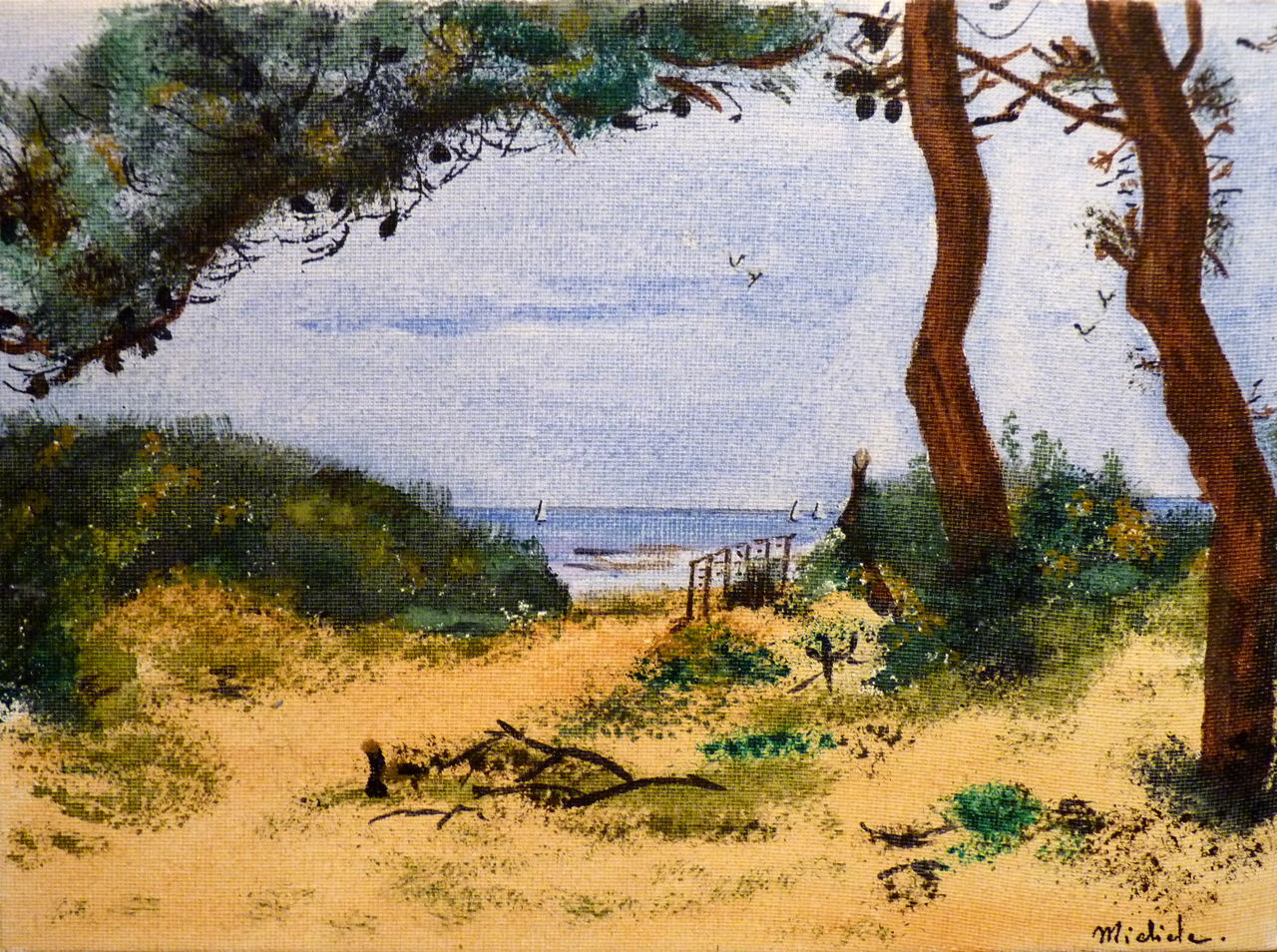 Michele martin L'ocean à jard sur mer.