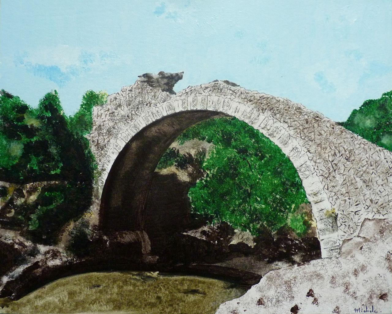 Michele martin Le pont des Fées,dans le Var.