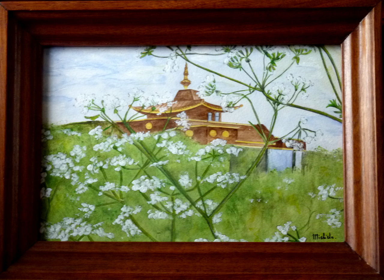 Michele martin Temple Bouddhiste de Biolet.Puy de Dome.