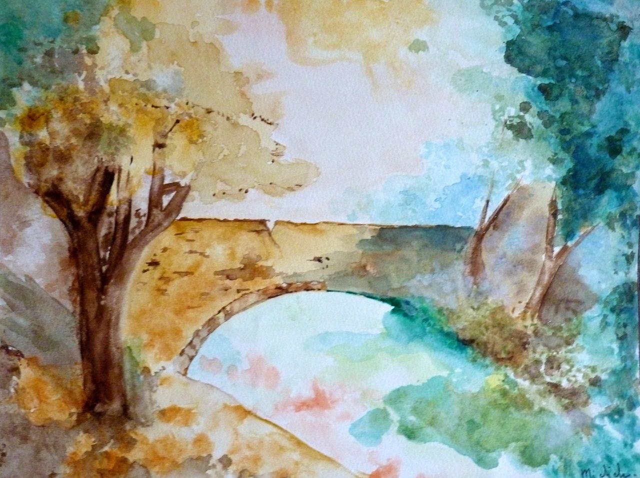 Michele martin Un petit pont.