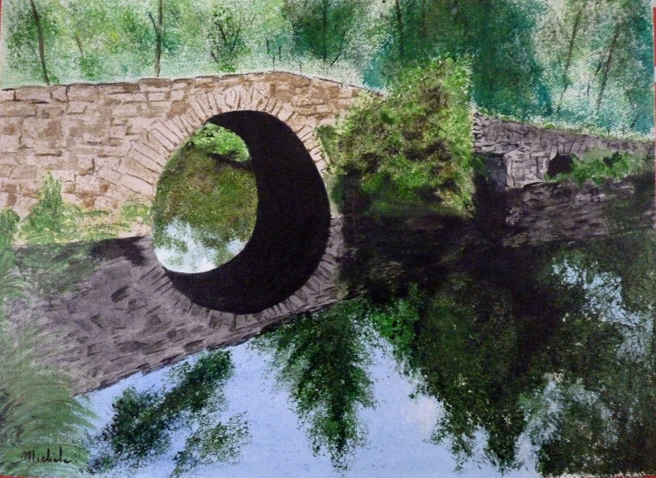 Michele martin Un pont dans le Haut-Limousin.