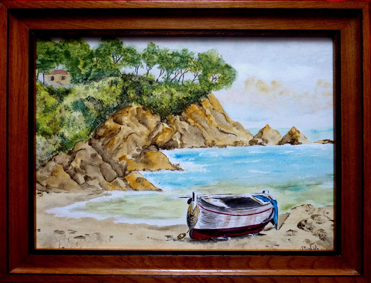 Michele martin Une barque sur la plage.