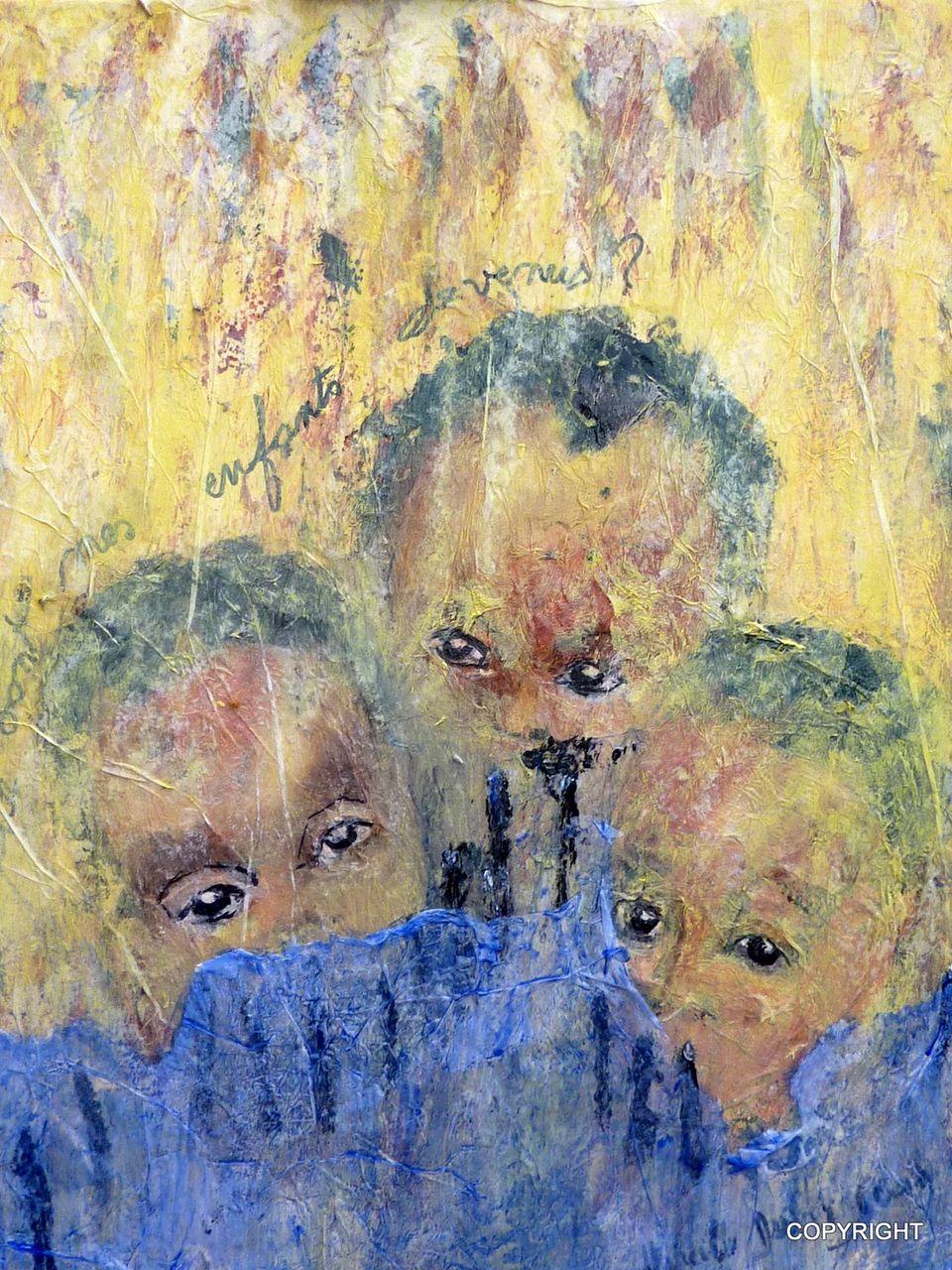 Mireille Dubois Vanhove acryliques et collages