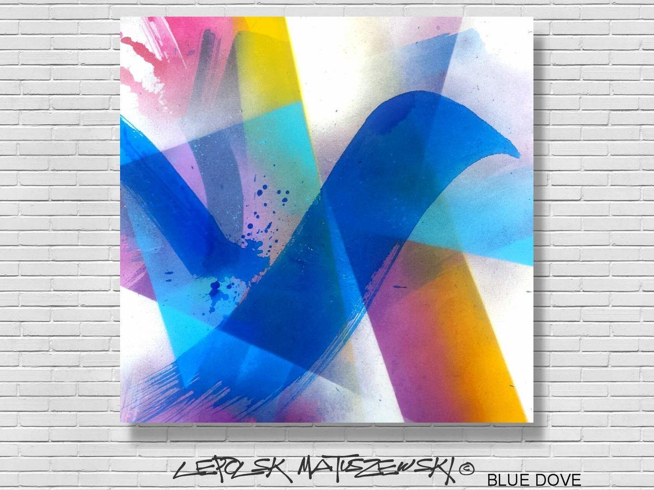 MISTER K  (Lepolsk Matuszewski) BLUE DOVE abstract graffiti expressionism Lepolsk 2016
