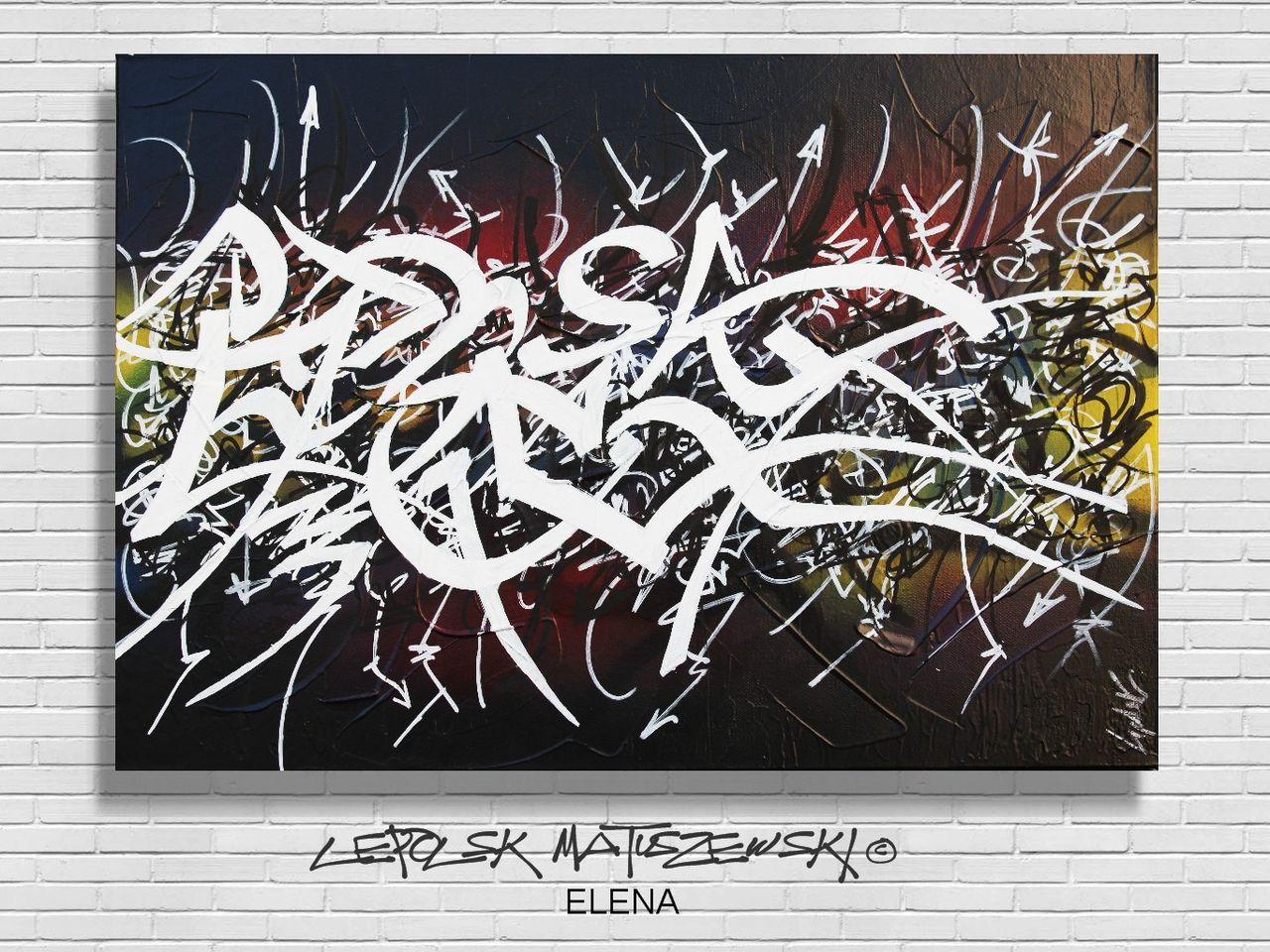 MISTER K  (Lepolsk Matuszewski) ELENA  Calligraffiti abstraite