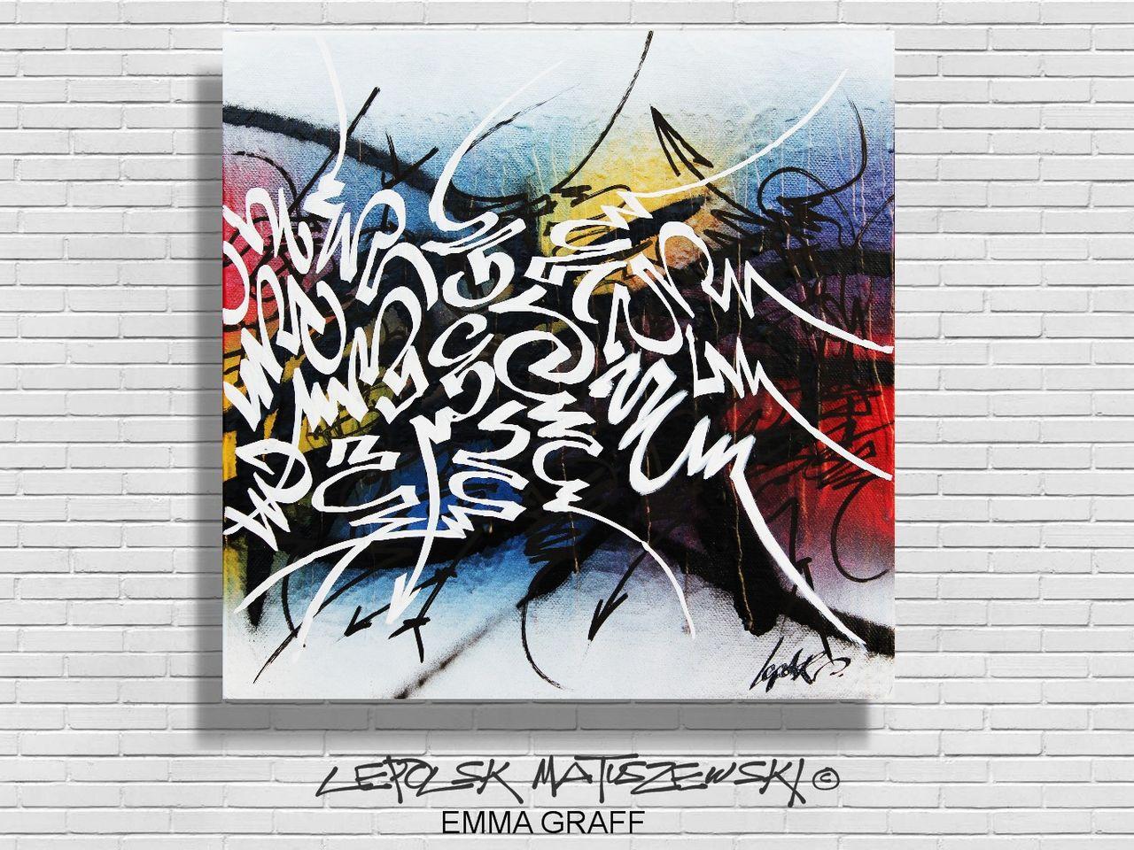 MISTER K  (Lepolsk Matuszewski) EMMA  STREET street art calligraffiti graffiti abstrait