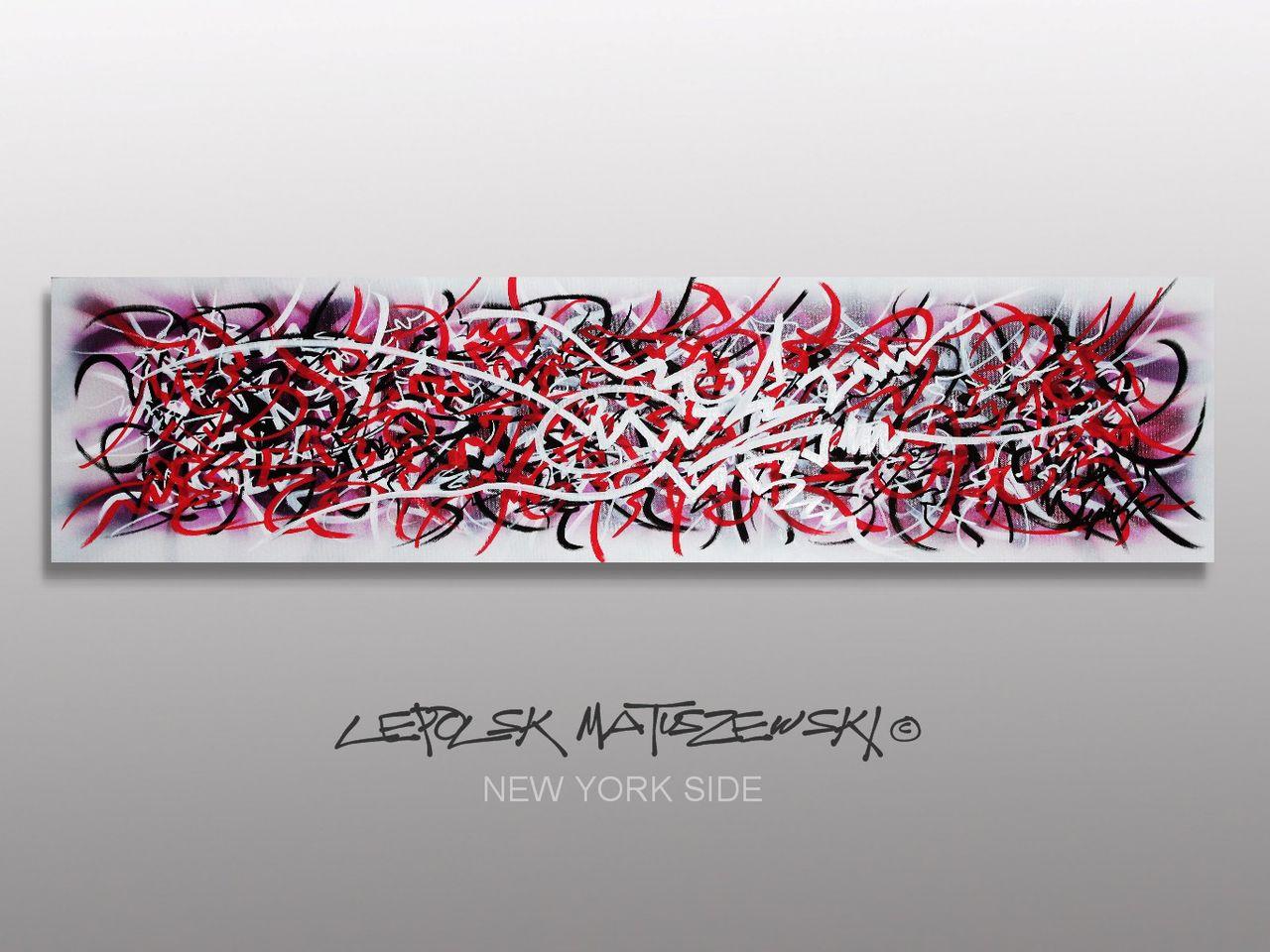 MISTER K  (Lepolsk Matuszewski) NEW YORK LEFT SIDE   Street art callifgraffiti graffiti abstrait