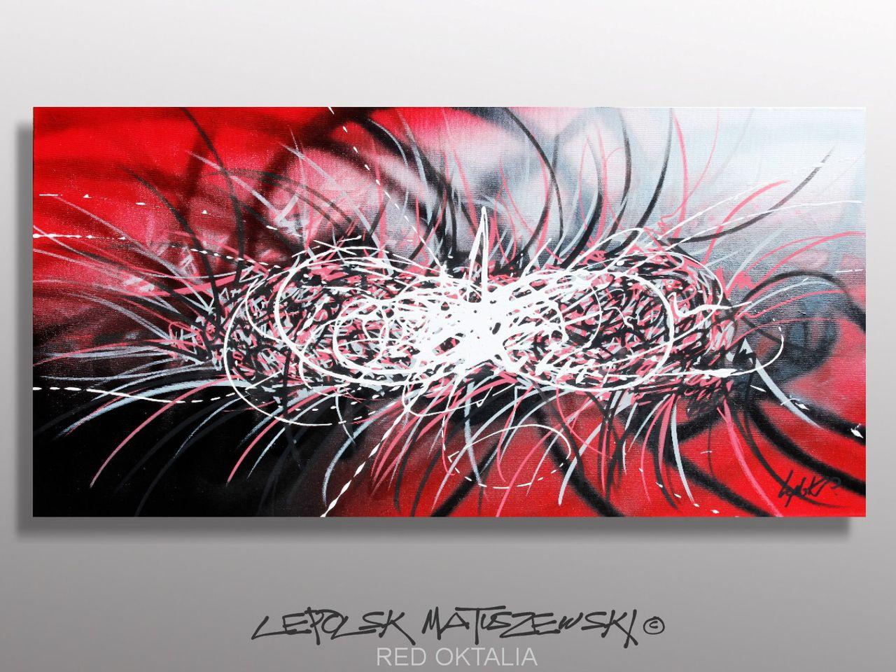 MISTER K  (Lepolsk Matuszewski) RED OKTALIA   street art calligraffiti graffiti abstrait