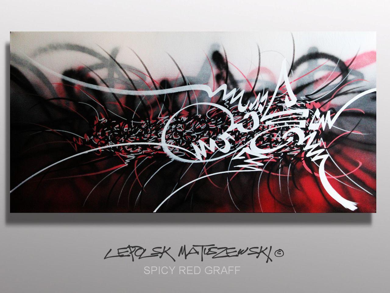 MISTER K  (Lepolsk Matuszewski) SPICY RED GRAFF  street art calligraffiti graffiti abstrait
