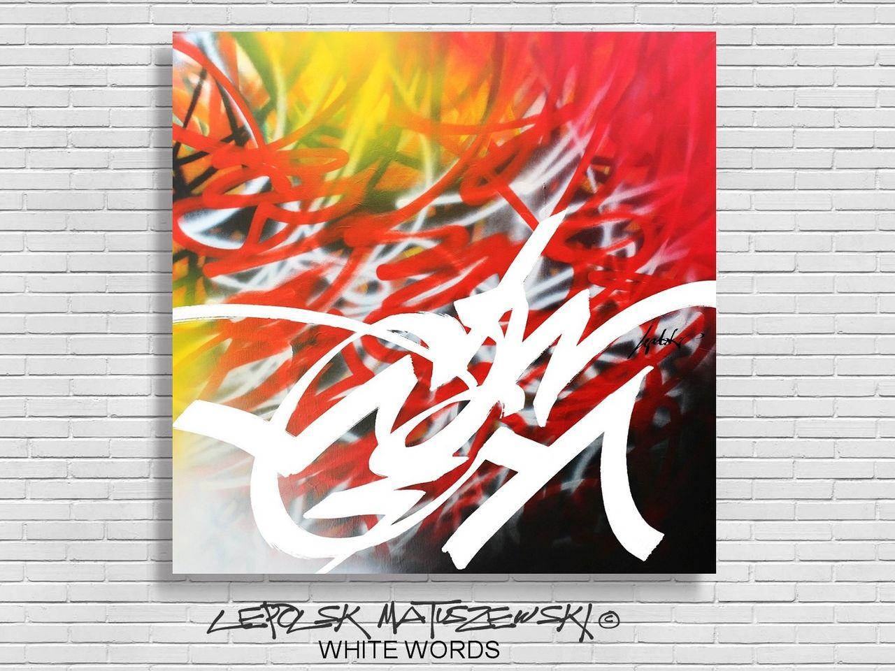 MISTER K  (Lepolsk Matuszewski) WHITE WORDS lepolsk 2016 abstract graffiti