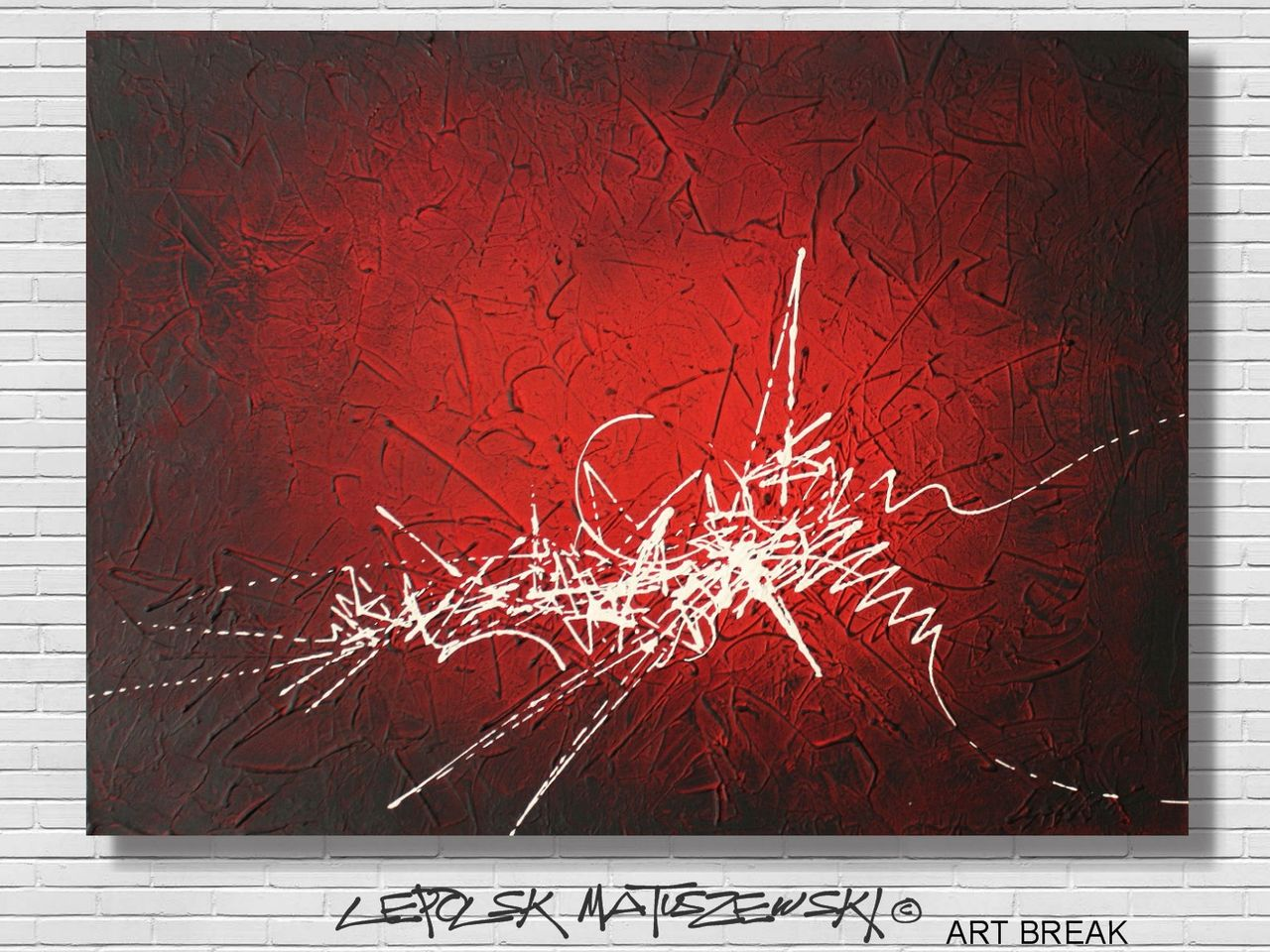MISTER K  (Lepolsk Matuszewski) ART BREAK by Lepolsk abstract art expressionnism  2016