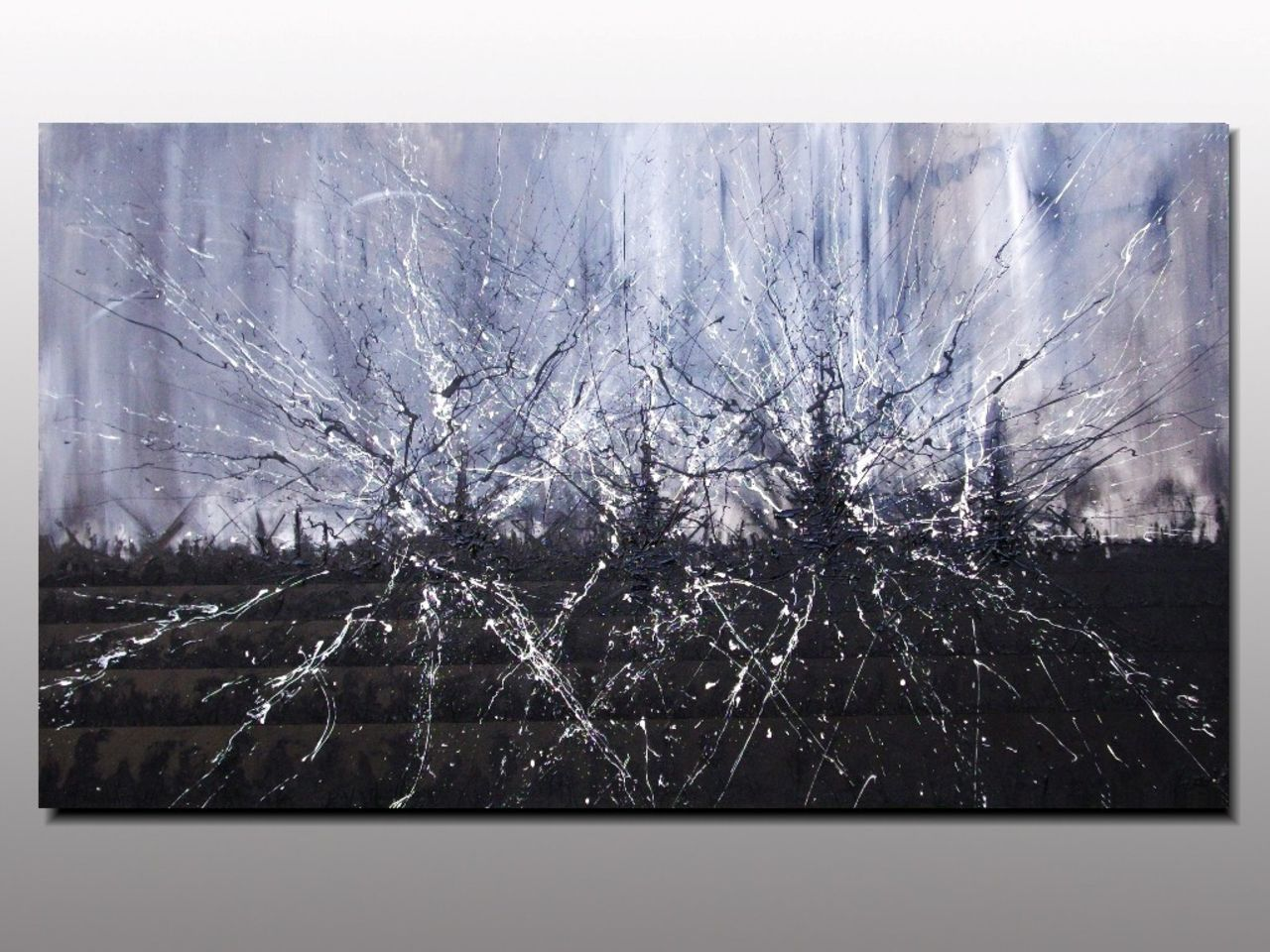MISTER K  (Lepolsk Matuszewski) IDYLLIC DISASTER  expressionnisme abstrait  action painting dripping tubbing relief artiste peintre plasticien Lepolsk Matuszews