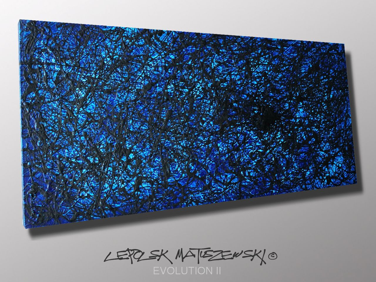 MISTER K  (Lepolsk Matuszewski) EVOLUTION II   Expressionnisme abstrait contemporain