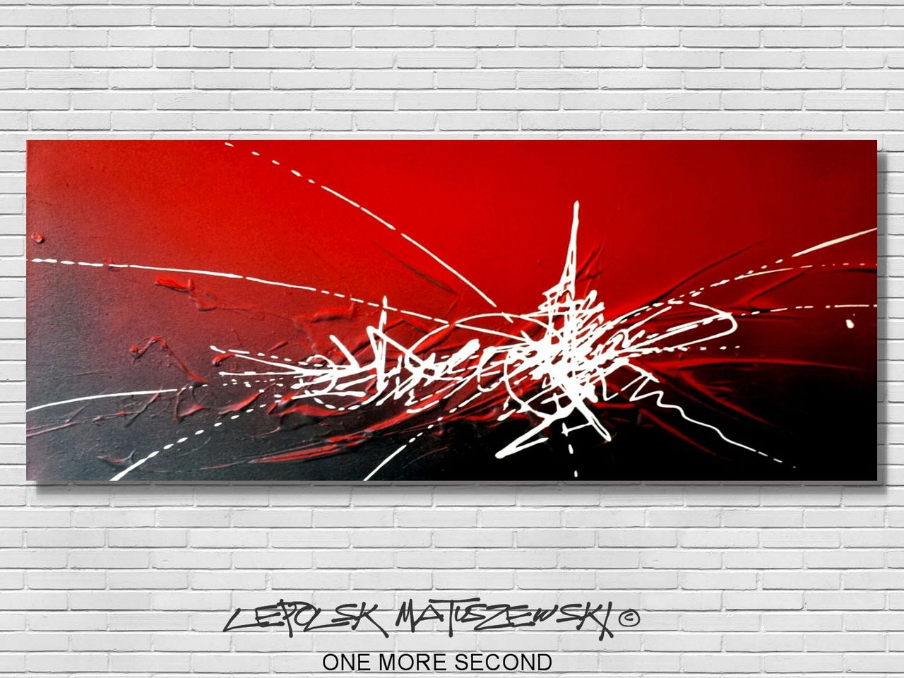 MISTER K  (Lepolsk Matuszewski) ONE MORE SECOND  lepolsk abstract art 2017