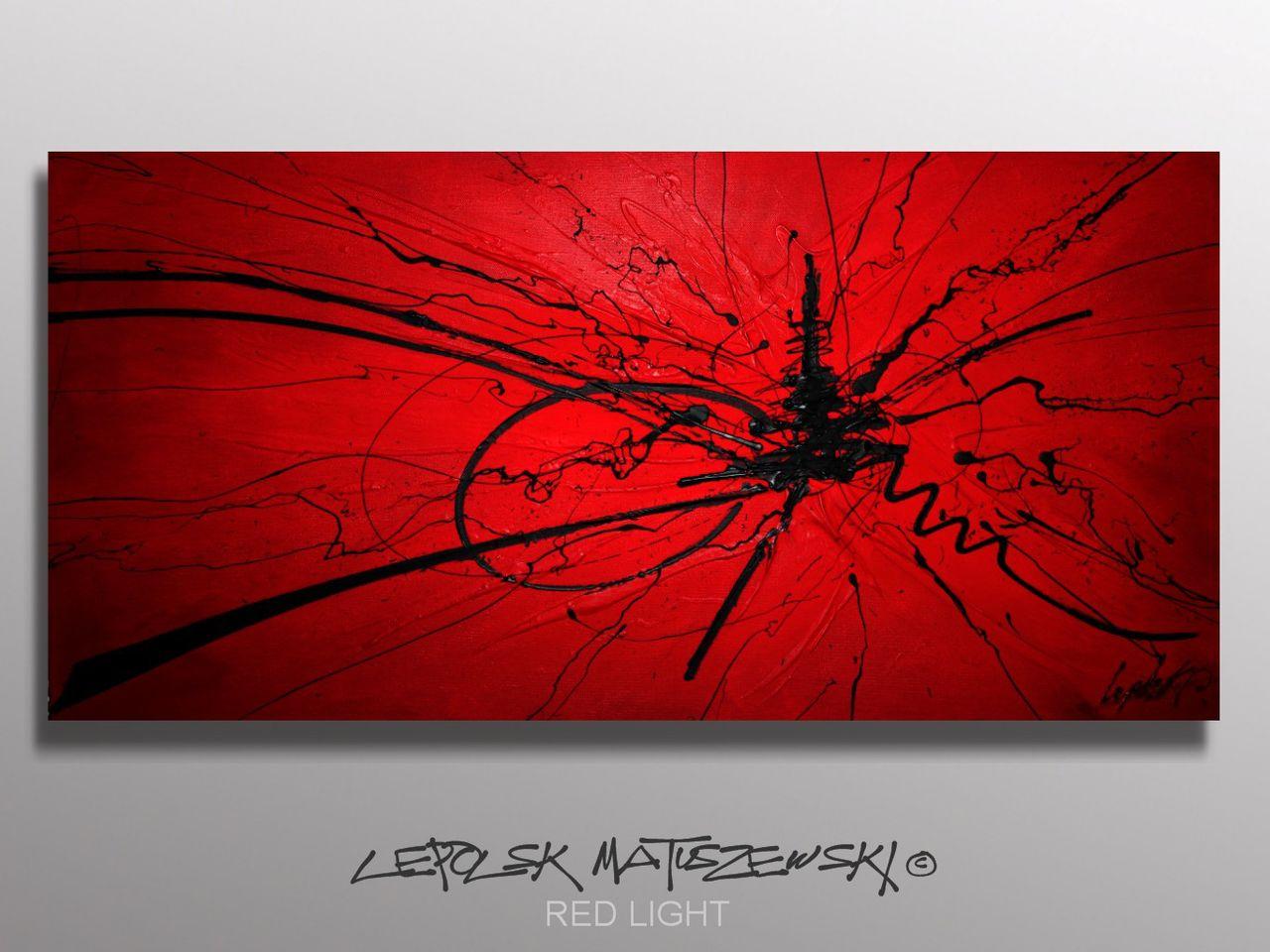 MISTER K  (Lepolsk Matuszewski) RED LIGHT   Expressionnisme abstrait contemporain