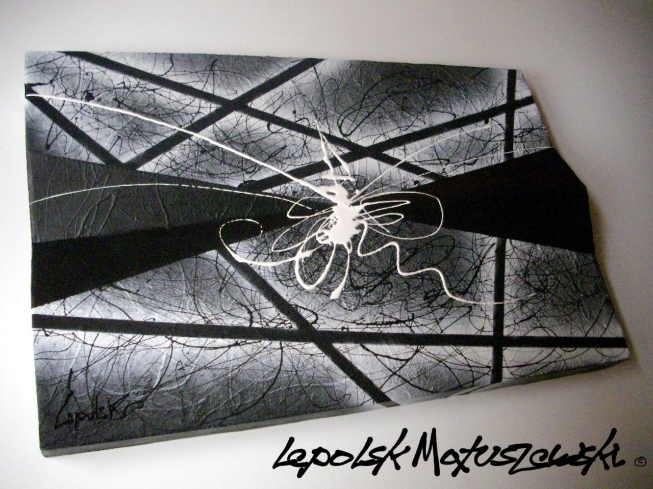 MISTER K  (Lepolsk Matuszewski) Prototype 90 or Black Light  expressionnisme abstrait