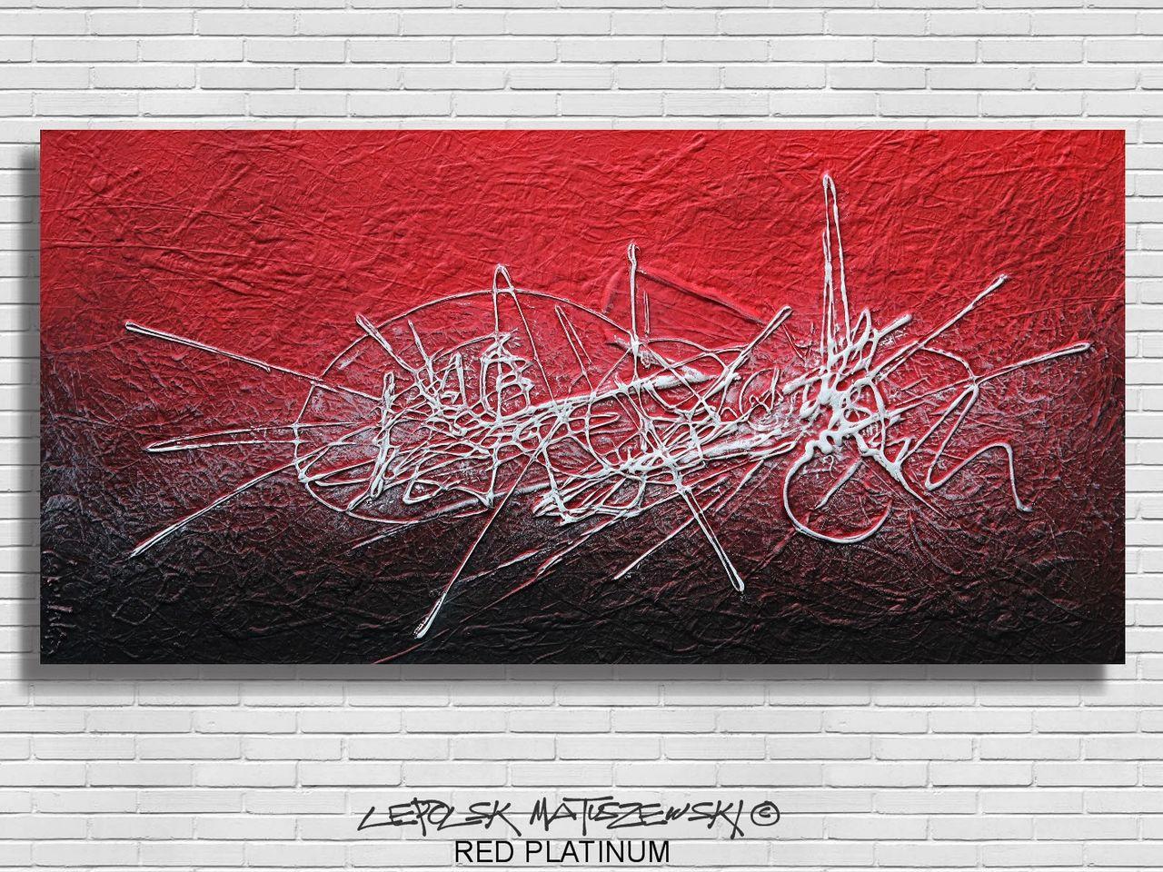MISTER K  (Lepolsk Matuszewski) RED PLATINUM   (expressionnisme abstrait contemporain)