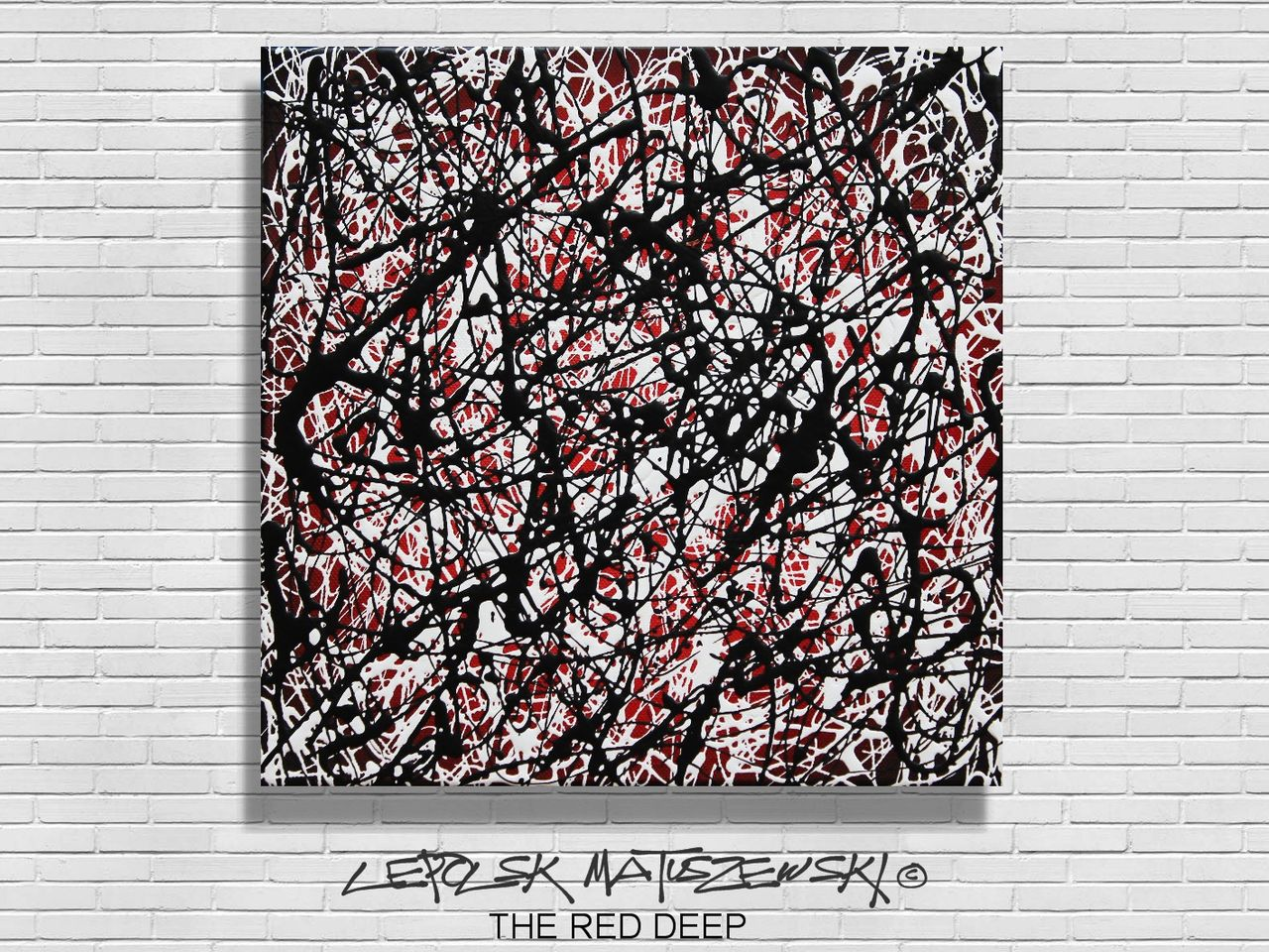 MK  Lepolsk Matuszewski THE RED DEEP   ( expressionnisme abstrait contemporain )