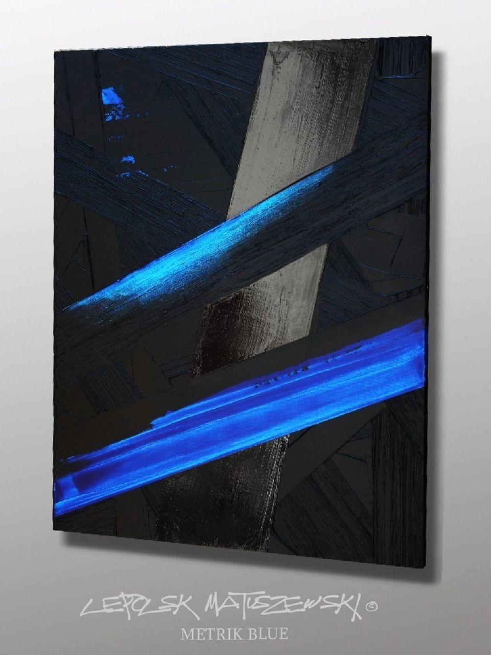 MK  Lepolsk Matuszewski METRIK BLUE  expressionnisme abstrait