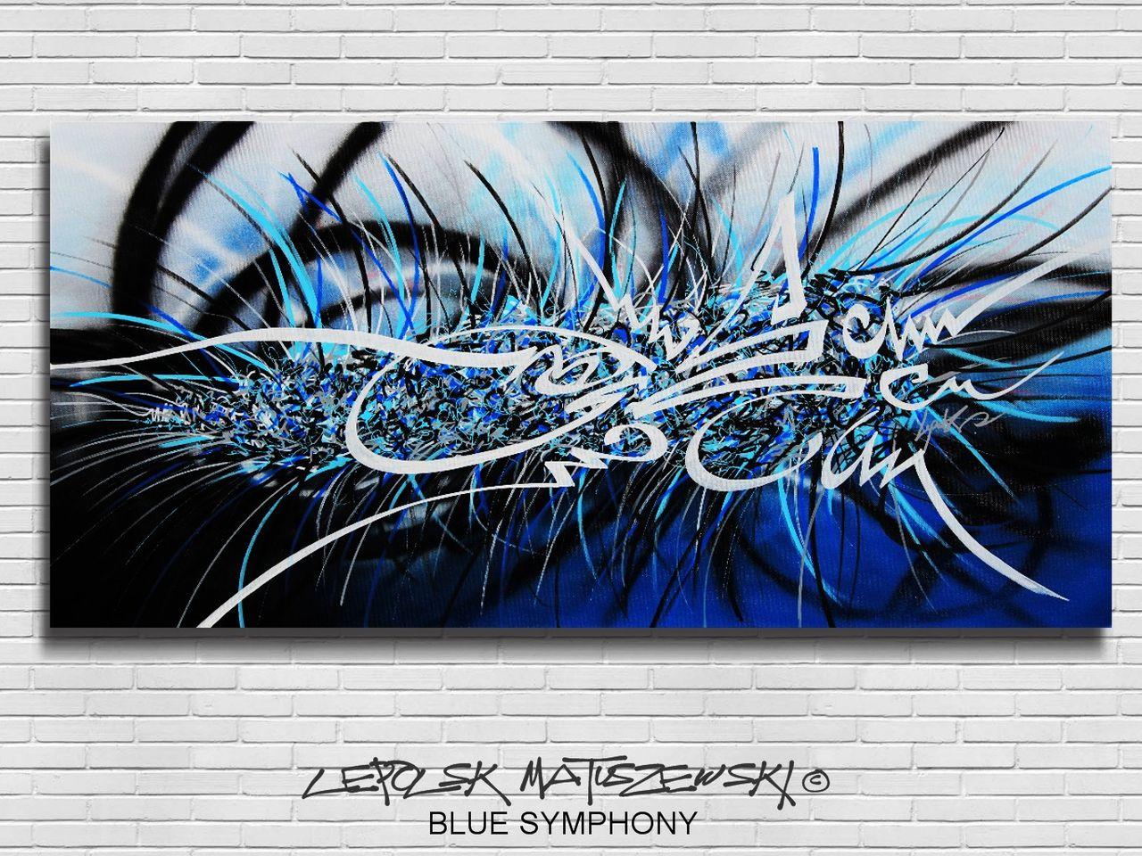 MK  Lepolsk Matuszewski BLUE SYMPHONY  street art calligraffiti graffiti abstrait