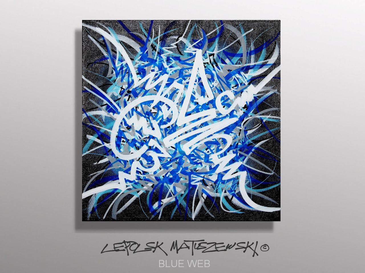 MK  Lepolsk Matuszewski BLUE WEB    street art calligraffiti graffiti abstrait